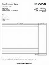 Images of Blank Invoice Pdf