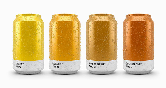 How Cool Are These Beer Cans That Show The Pantone Color Of The Brew Inside?