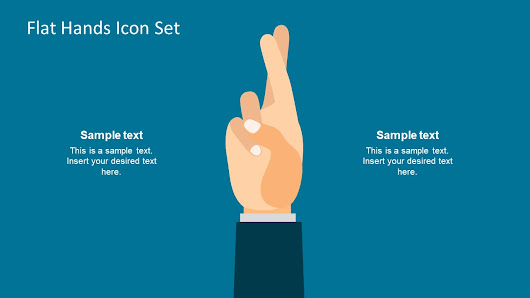 Flat Hands Icon Set for PowerPoint - SlideModel