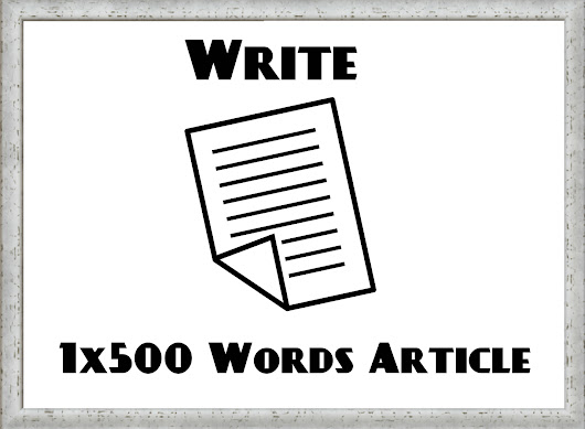 Write a 500-word blog post (article) on a topic of your choice for $25