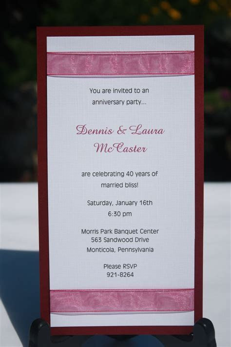 27 best images about Anniversary Invitations on Pinterest