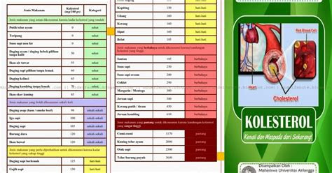 kumpulan materi kebidanan leaflet kolesterol