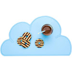 "RW Kids Sky Blue Silicone Cloud Placemat - Non-Slip - 18 3/4"" x 10 1/2"" - 1 count box"