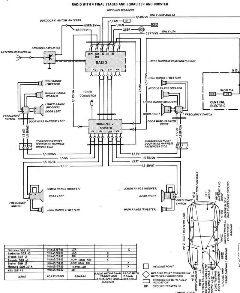 Porsche 944 Radio Wiring