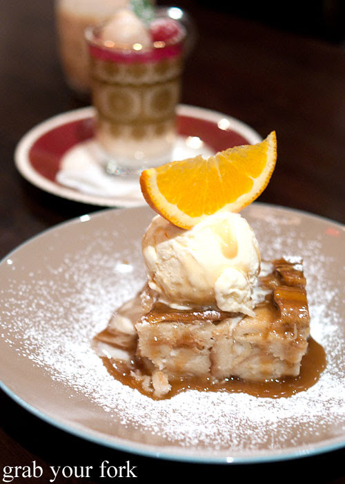 vietnamese coconut bread pudding at eggless dessert cafe, goodwood, adelaide