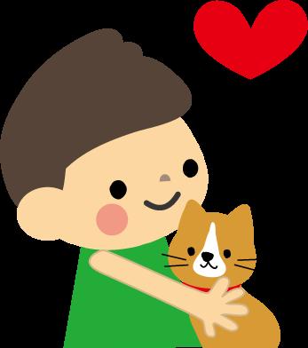 動物愛護 犬猫のイラスト 無料イラストフリー素材