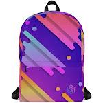 Compact Laptop Backpack - 90s Color Splash