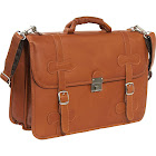 Piel Leather XXL Flap-Over Portfolio - Saddle
