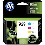 HP 952 Ink Cartridge, Cyan/Yellow/Magenta - 3-pack