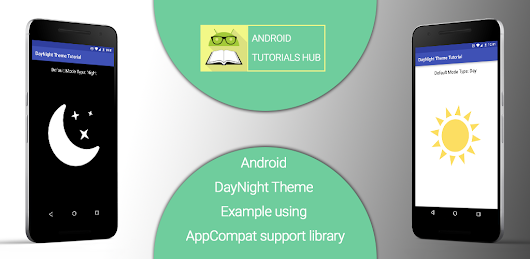 Android DayNight Theme Example using AppCompat support library - Android Tutorials Hub