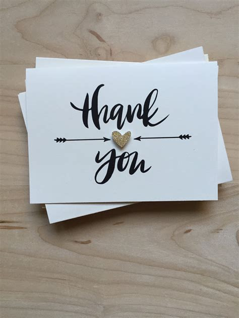 Thank You Card Set Set of 8 Cute Thank You Cards