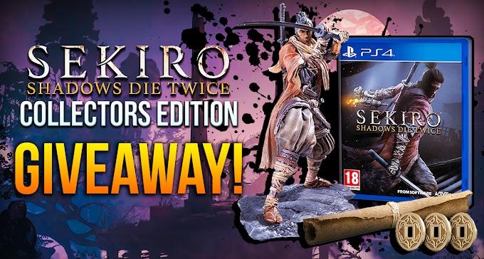 Sorteio edição de colecionador de Sekiro: Shadows Die Twice para PS4!