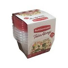 Rubbermaid Containers + Lids, Mini Deep Squares 2.1 Cups - 5 containers