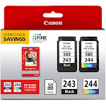 Canon 1287C005 CL-244 PG-243BK Ink Combo Pack