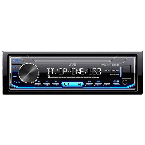 JVC 1-DIN Digital Media Receiver with Bluetooth & USB - Black