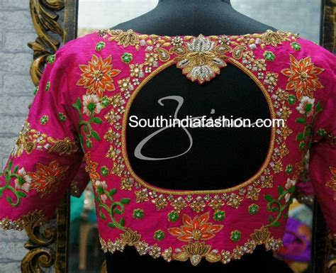 Heavy Maggam Work Bridal Blouses by Zaina ? South India