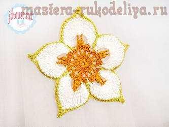 Master class de adorno de la flor de autor ganchillo - Mascot