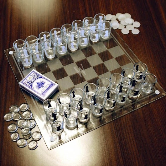 Checkmate Personalized Shot Glass Chess by HomeWetBar on Etsy