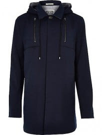 River Island Navy Holloway Road Structured Coat