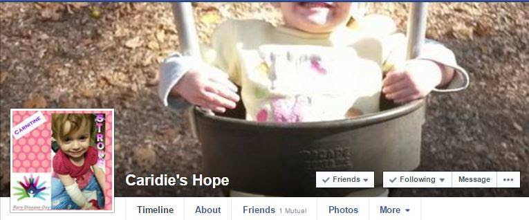 Caridie's Hope Facebook Page
