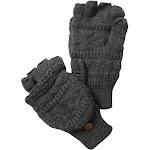 Muk Luks Men's Fairisle Flip Glove, Grey