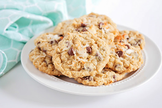 Coconut Chocolate Chip Oatmeal Cookies - One Little Project