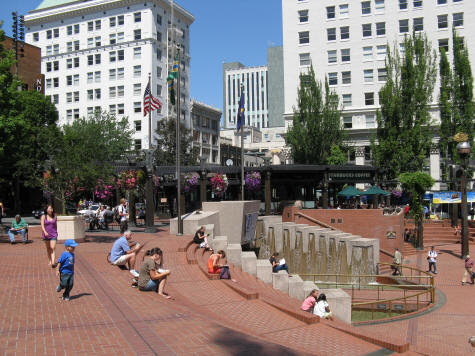 Pioneer Square in Portland Oregon