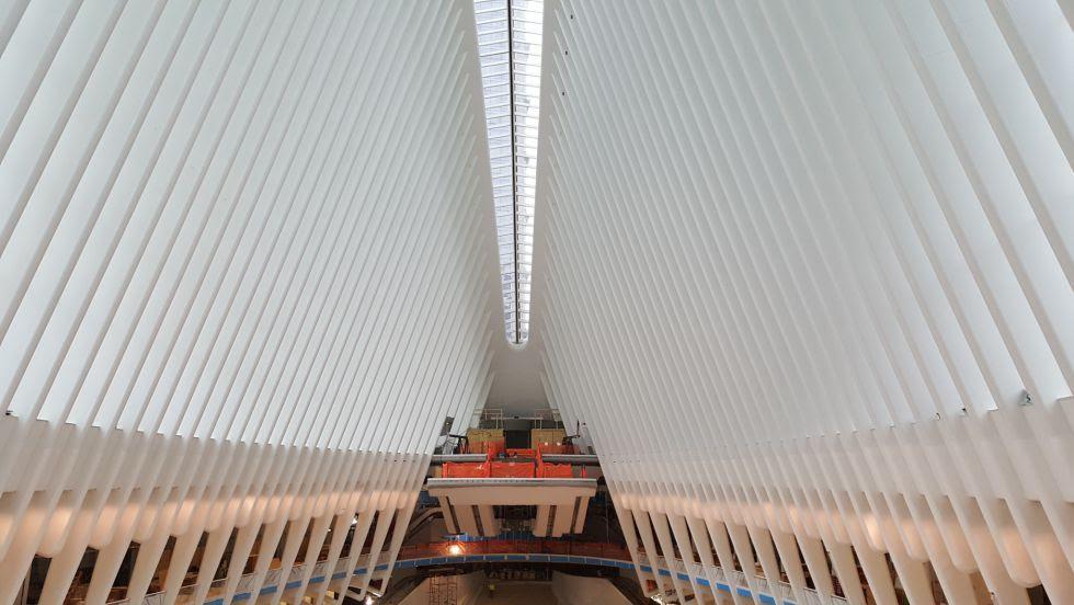 Interior del vestíbulo principal de la estación en el WTC