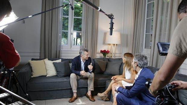 Macri, durante la entrevista con LN+ en la quinta presidencial de Olivos