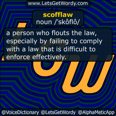scofflaw 02/17/2017 GFX Definition