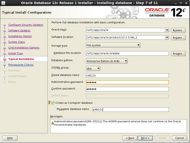 Create and configure database