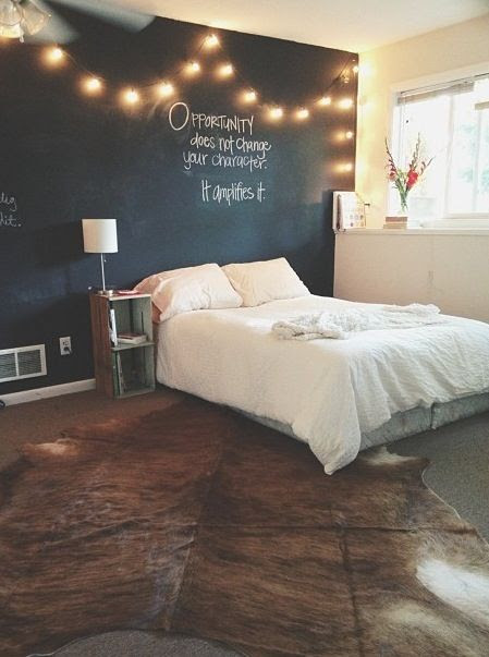 Chalkboard wall with string lights...love this idea for Drew's room in our next house. @Chelsey Boatwright Photography Boatwright Photography Boatwright Photography Manley