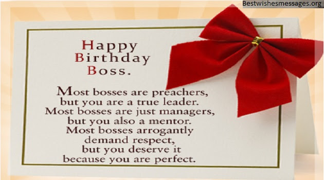 100 Happy Birthday Wishes Greetings Messages Quotes For Boss Sir