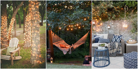 20 Backyard Lighting Ideas - How to Hang Outdoor String Lights