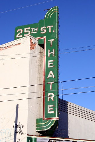 25th street theatre neon sign