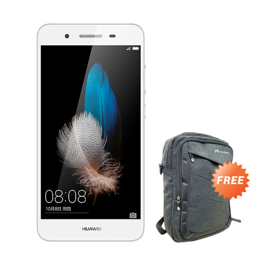 Preorder - Huawei GR3 Smartphone - Silver [4G] + Free Clear Case + Tas Ransel + Voucher Blibli 100 rb