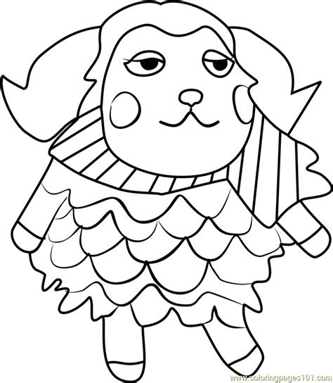 timbra animal crossing coloring page  animal