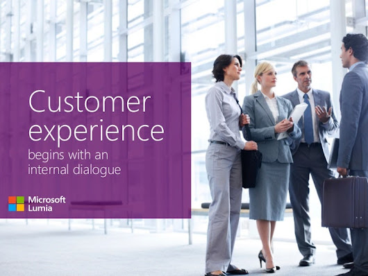 Customer experience begins with an internal dialogue