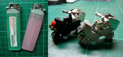 Cara membuat Korek Api gas bekas menjadi sepeda motor ...