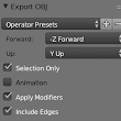 How to export only selected objects in Blender