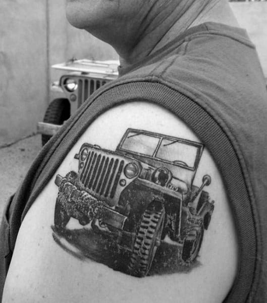 Guys Tattoo Jeep