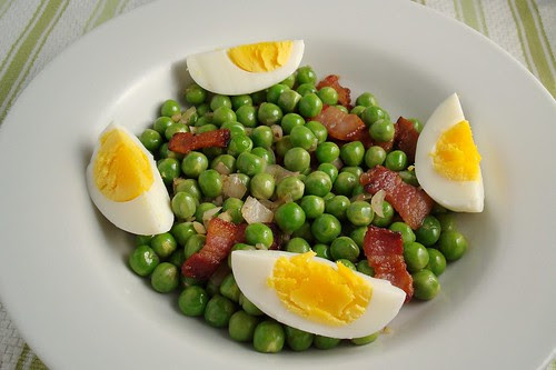 Peas with Bacon and Eggs