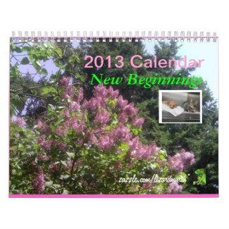 2013 Calendar - New Beginnings