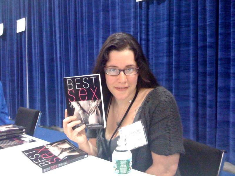 Me signing Best Sex Writing 2009 at BEA