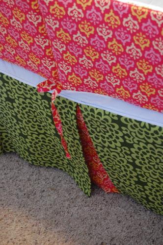 crib skirt detail
