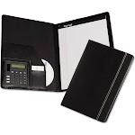 Samsill Professional Slimline - Padfolio - Letter - black - vinyl, nappa leather