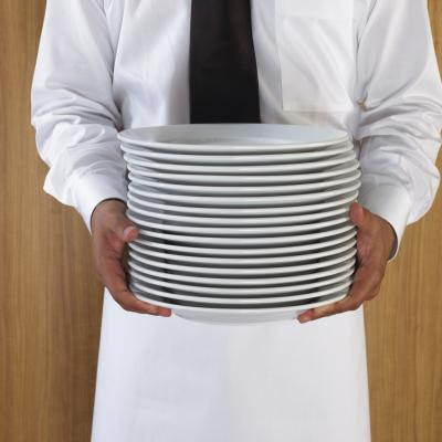 Display your plates as you store them on a dish stand.