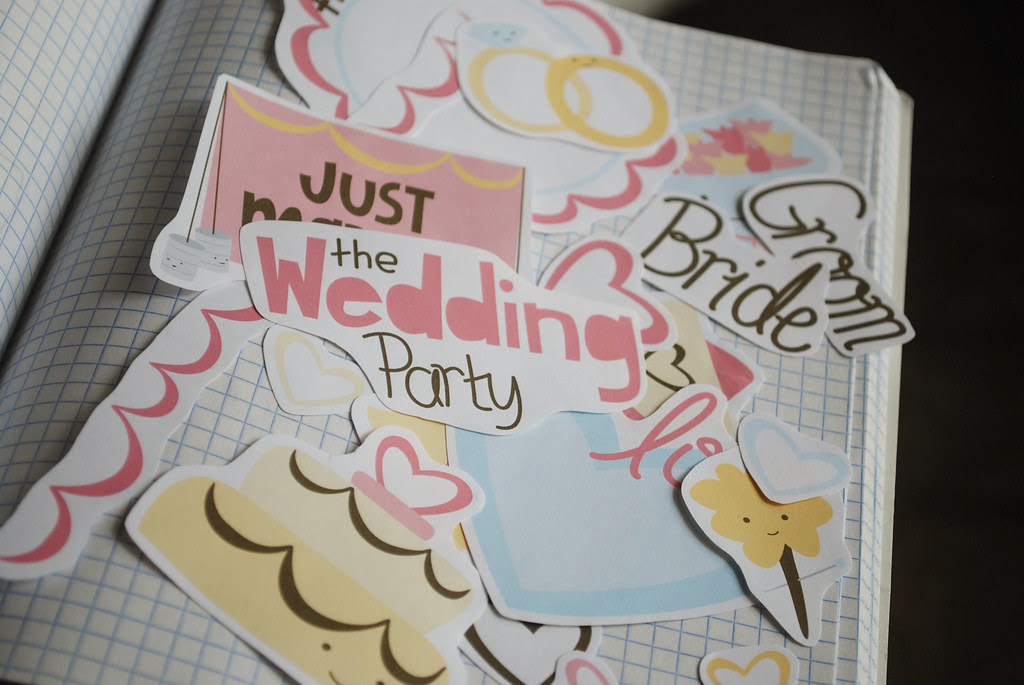 wedding party collage sheet