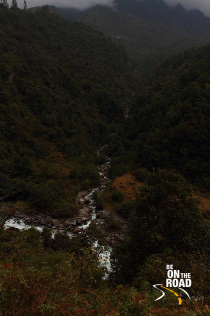 Hill streams join enroute to Tawang