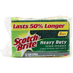 Scotch Brite Scrub Sponges, Heavy Duty, 3 Pack - 3 sponges